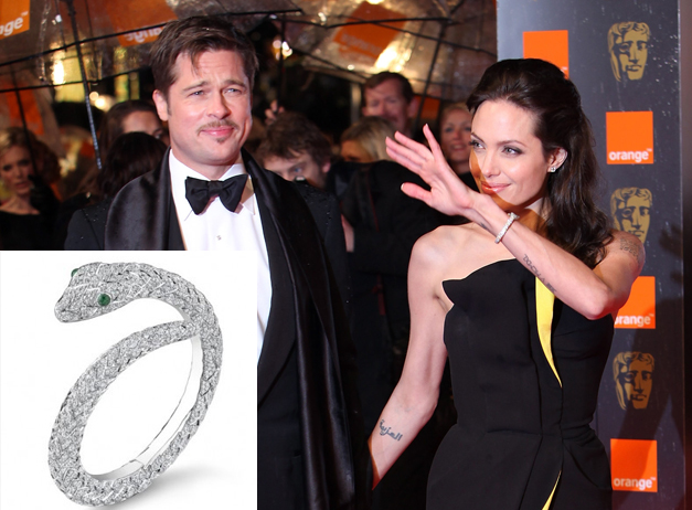 Brad Pitt And Angelina Jolie S Snake Charming Jewelry