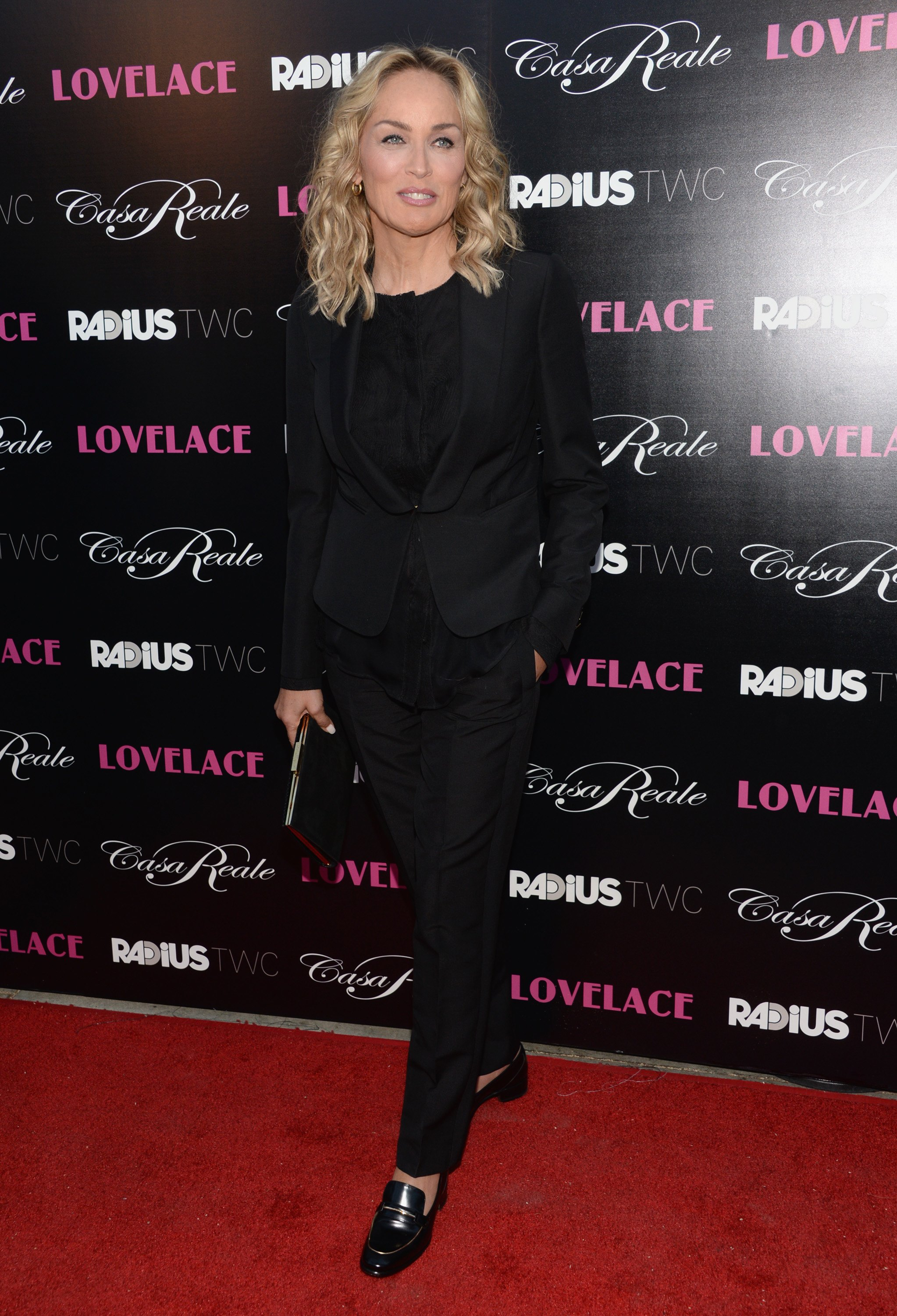 Sharon Stone's Lovelace red carpet look was so fierce, we just had to try our hand at styling a suit!