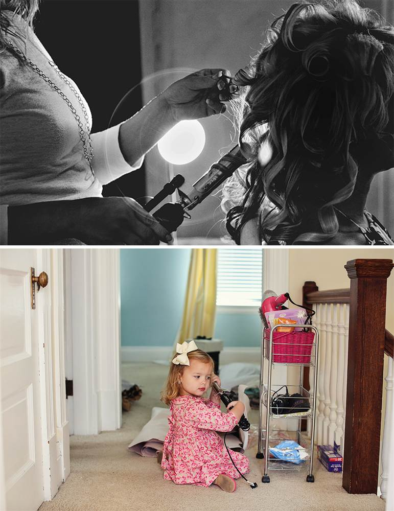 Mother's memory lives on as father and 3-year-old daughter recreate wedding day photos *tear* [GALLERY]