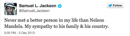 Nelson Mandela's death elicits 7 million Tweets, including countless celebrity tributes