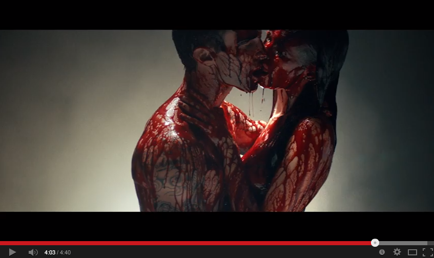 Naked, blood-covered Adam Levine stalks Behati Prinsloo in creepy Maroon 5 video - see it here!