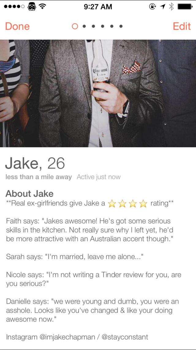 Guy asks ex-girlfriends to review him on Tinder - you'll NEVER guess