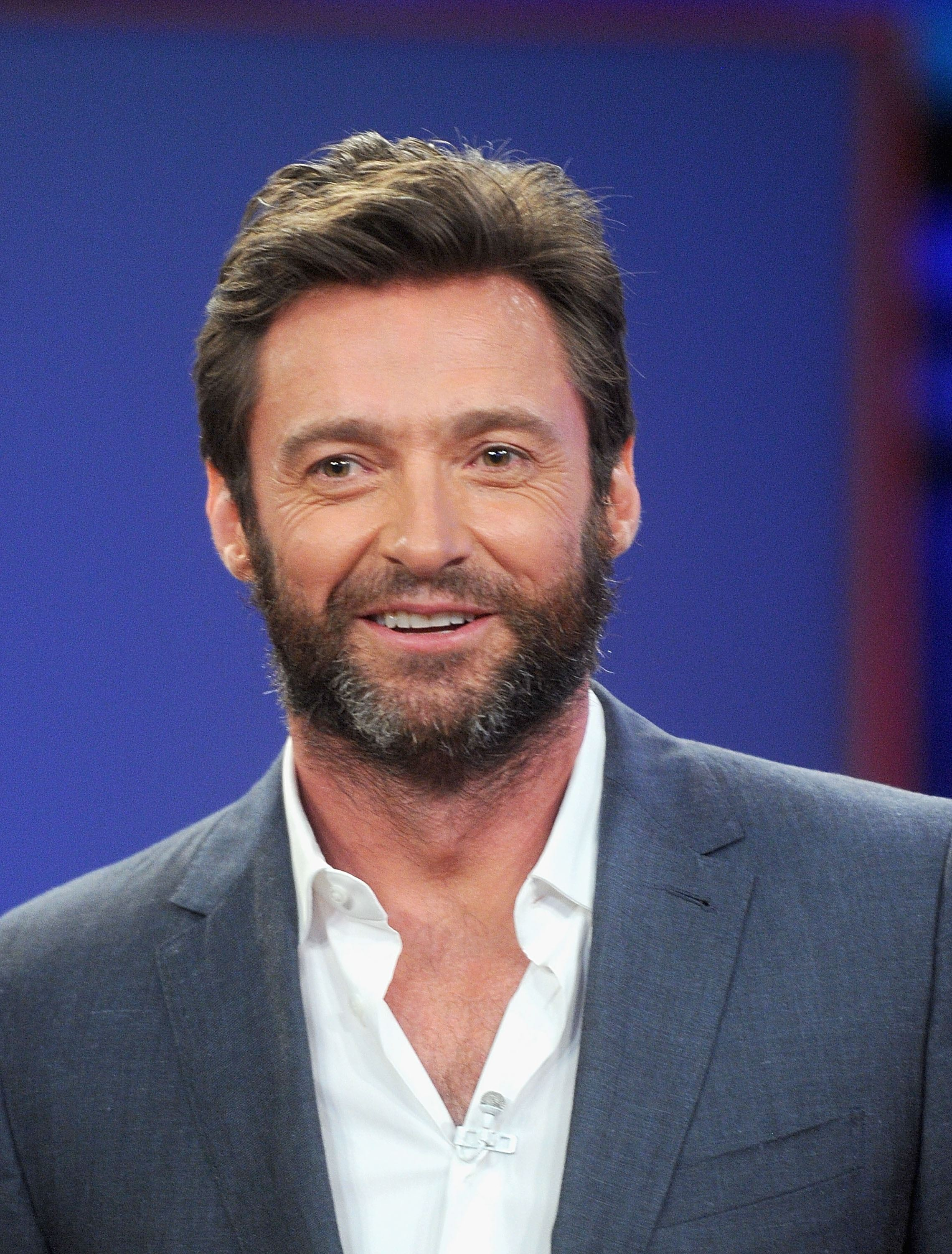 This is Hugh Jackman rocking out to the 'Bacon Pancakes' song from Adventure Time