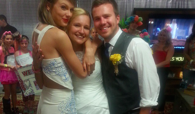 Taylor Swift surprises fans on their wedding day following their 1989 ceremony