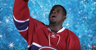Watch the Montreal Canadiens perform (and butcher) 'Let it Go'