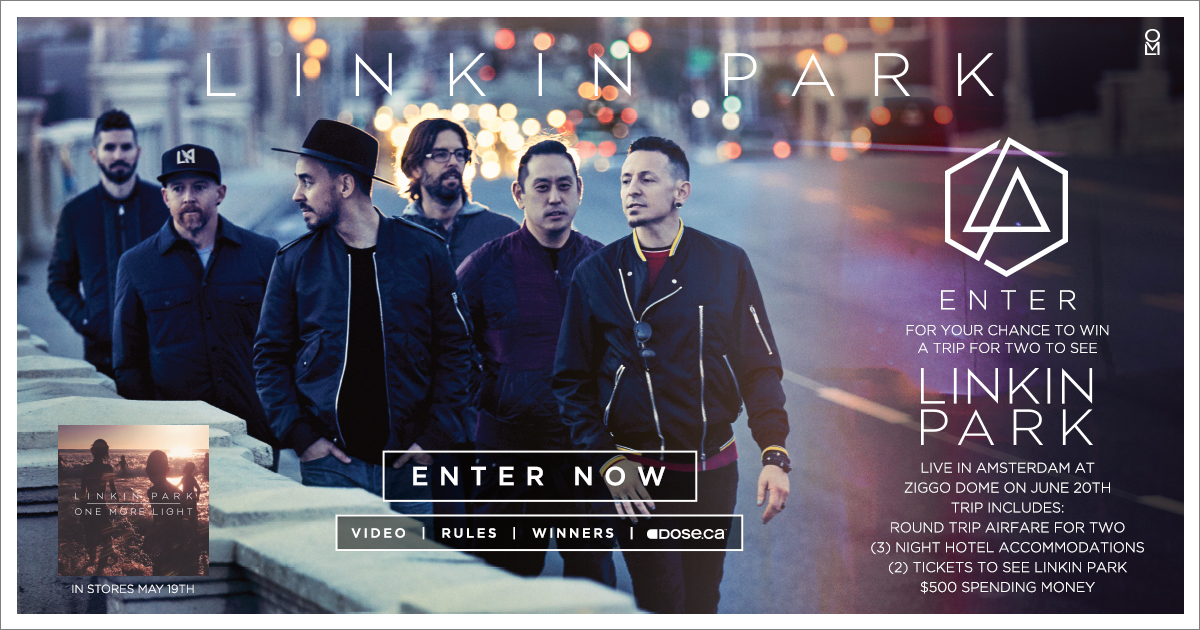 Enter for your chance to see Linkin Park live in Amsterdam