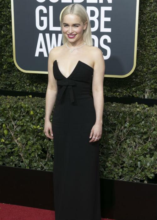 Stars Paint It Black on The Golden Globes 2018 Red Carpet