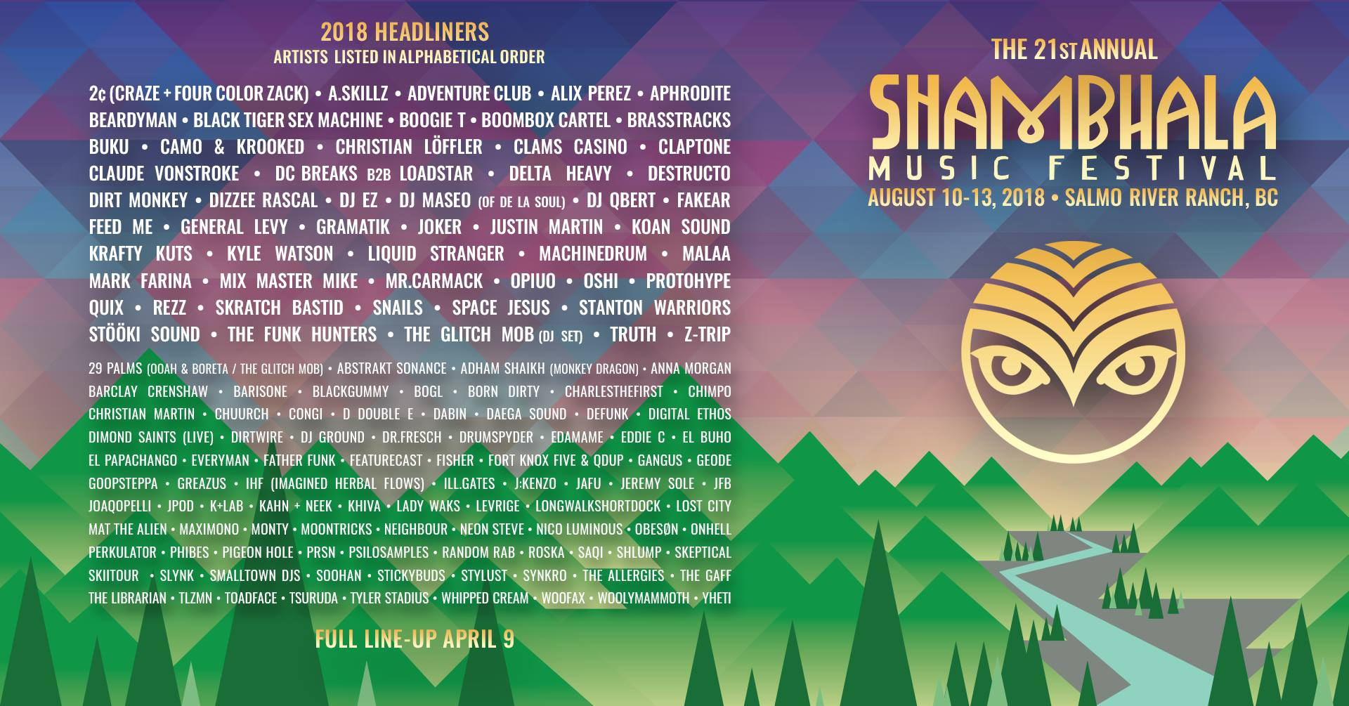 Shambhala 2018 Coming In Hot!