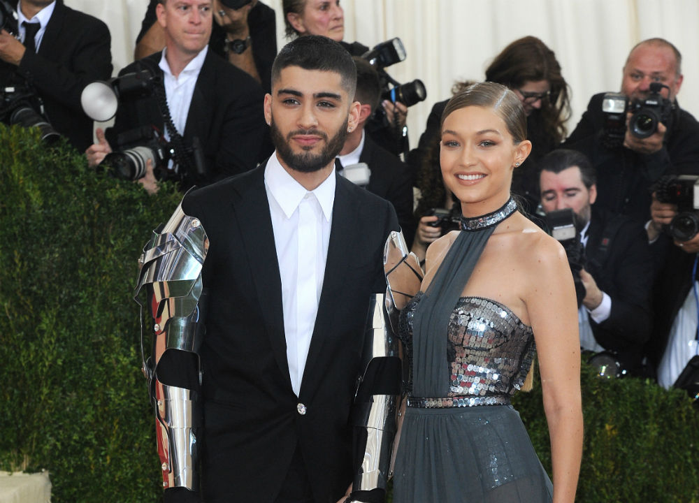 Zayn Malik and Gigi Hadid at Met Gala in 2016