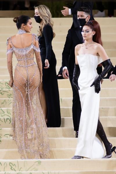 Kendall Jenner wore Givenchy, while Gigi Hadid wore Prada.