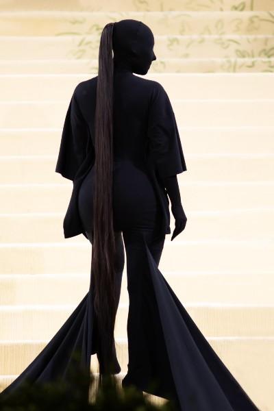Kim Kardashian shrouded herself in Balenciaga.